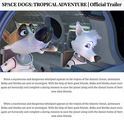 SPACE DOGS: TROPICAL ADVENTURE | Official Trailer