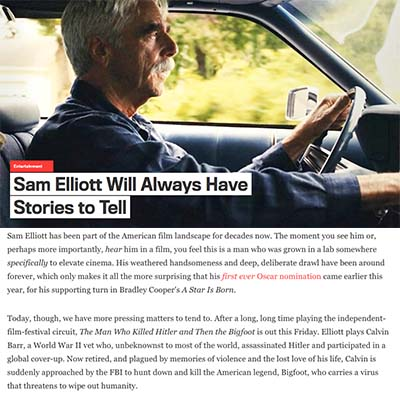 Sam Elliott Will Always Have Stories to Tell