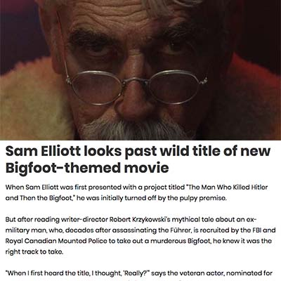 Sam Elliott looks past wild title of new Bigfoot-themed movie