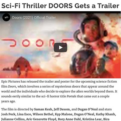 Sci-Fi Thriller DOORS Gets a Trailer
