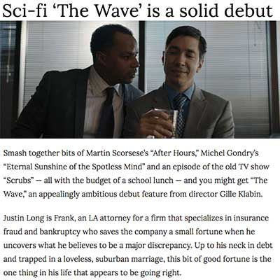 Sci-fi 'The Wave' is a solid debut