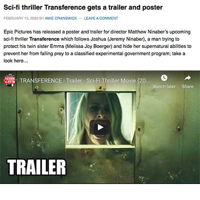 Sci-fi thriller Transference gets a trailer and poster