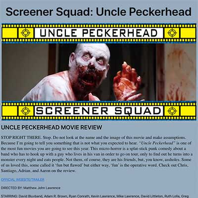 Screener Squad: Uncle Peckerhead