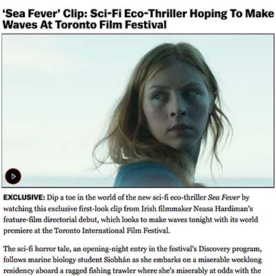 'Sea Fever' Clip: Sci-Fi Eco-Thriller Hoping To Make Waves At Toronto Film Festival