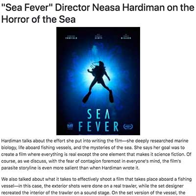 """Sea Fever"" Director Neasa Hardiman on the Horror of the Sea"