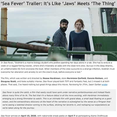 'Sea Fever' Trailer: It's Like 'Jaws' Meets 'The Thing'