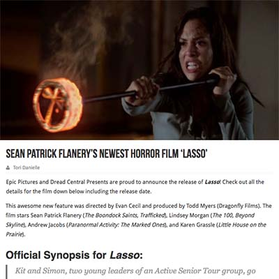 Sean Patrick Flanery's Newest Horror Film 'Lasso'