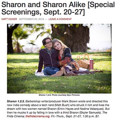 Sharon and Sharon Alike [Special Screenings, Sept. 20-27]