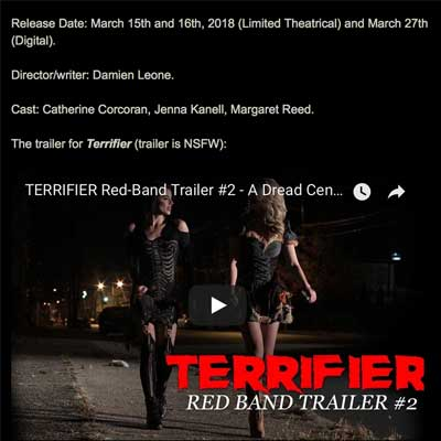Slasher Clown Feature Terrifier Brings More Bloody Mayhem to Theatres