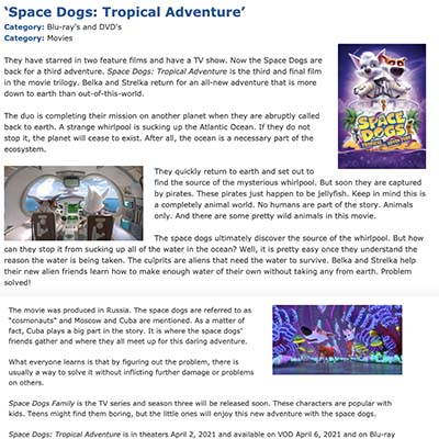 'Space Dogs: Tropical Adventure'