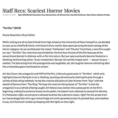 Staff Recs: Scariest Horror Movies