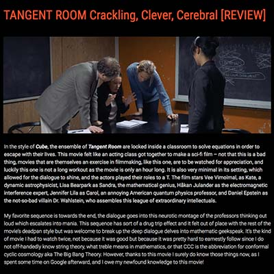TANGENT ROOM Crackling, Clever, Cerebral [REVIEW]