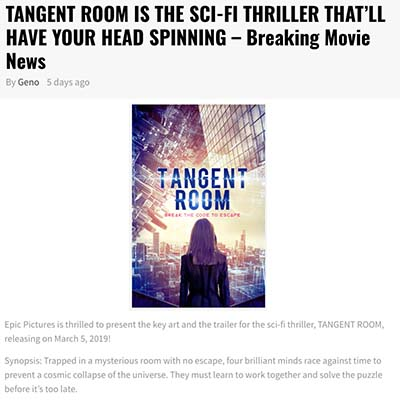 TANGENT ROOM IS THE SCI-FI THRILLER THAT'LL HAVE YOUR HEAD SPINNING – BREAKING MOVIE NEWS