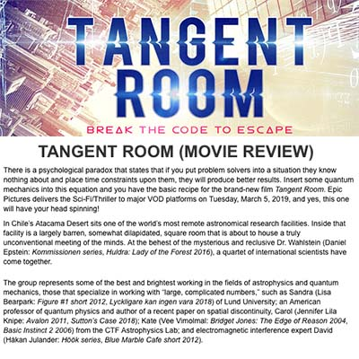 TANGENT ROOM (MOVIE REVIEW)