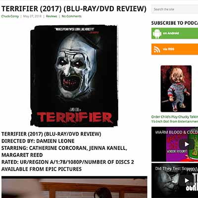 TERRIFIER (2017) (BLU-RAY/DVD REVIEW)
