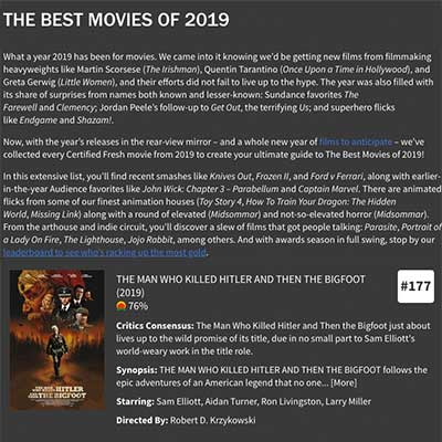THE BEST MOVIES OF 2019 (HITLER & BIGFOOT)
