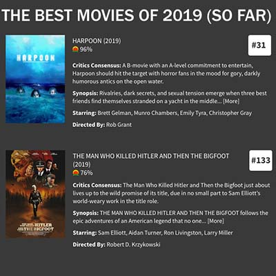 THE BEST MOVIES OF 2019 (LAST UPDATED 11/18/19)