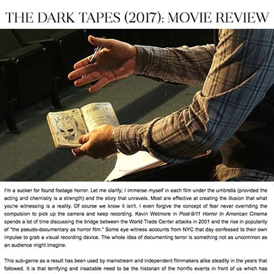 THE DARK TAPES (2017): MOVIE REVIEW
