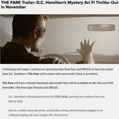 THE FARE Trailer: D.C. Hamilton's Mystery Sci Fi Thriller Out in November