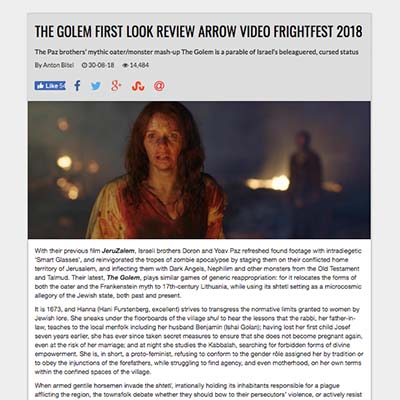 THE GOLEM FIRST LOOK REVIEW ARROW VIDEO FRIGHTFEST 2018