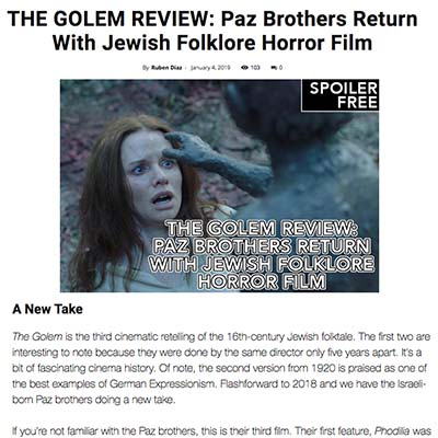 THE GOLEM REVIEW: Paz Brothers Return With Jewish Folklore Horror Film