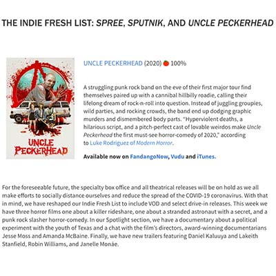 THE INDIE FRESH LIST: SPREE, SPUTNIK, AND UNCLE PECKERHEAD