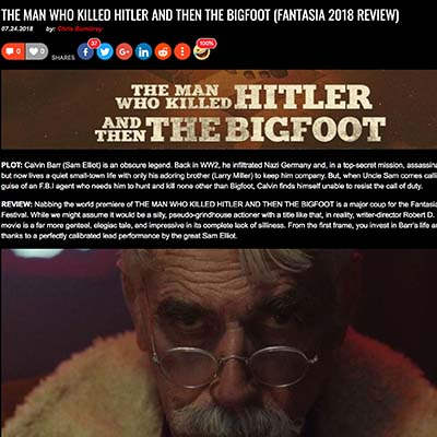 THE MAN WHO KILLED HITLER AND THEN THE BIGFOOT (FANTASIA 2018 REVIEW)