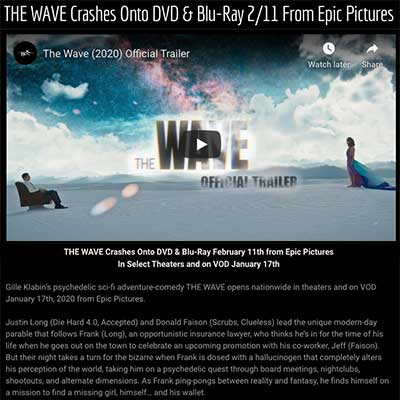 THE WAVE Crashes Onto DVD & Blu-Ray 2/11 From Epic Pictures