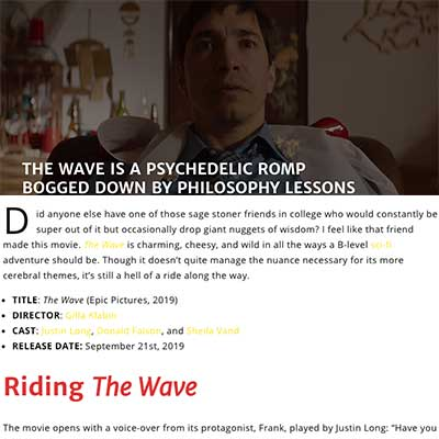 THE WAVE IS A PSYCHEDELIC ROMP BOGGED DOWN BY PHILOSOPHY LESSONS