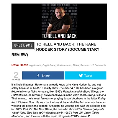 TO HELL AND BACK: THE KANE HODDER STORY (DOCUMENTARY REVIEW)
