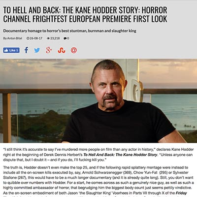 TO HELL AND BACK: THE KANE HODDER STORY: HORROR CHANNEL FRIGHTFEST EUROPEAN PREMIERE FIRST LOOK