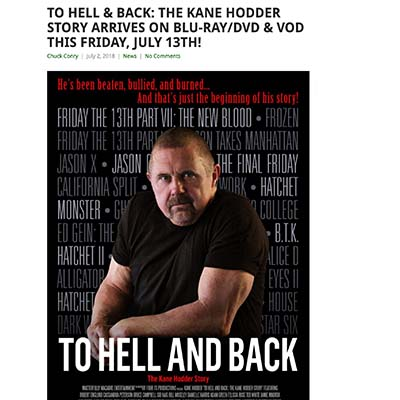 TO HELL & BACK: THE KANE HODDER STORY ARRIVES ON BLU-RAY/DVD & VOD THIS FRIDAY, JULY 13TH!