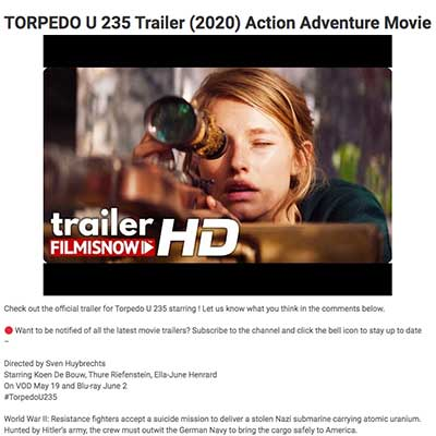 TORPEDO U 235 Trailer (2020) Action Adventure Movie