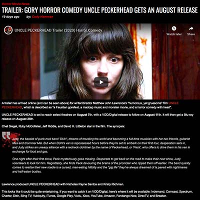 TRAILER: GORY HORROR COMEDY UNCLE PECKERHEAD GETS AN AUGUST RELEASE