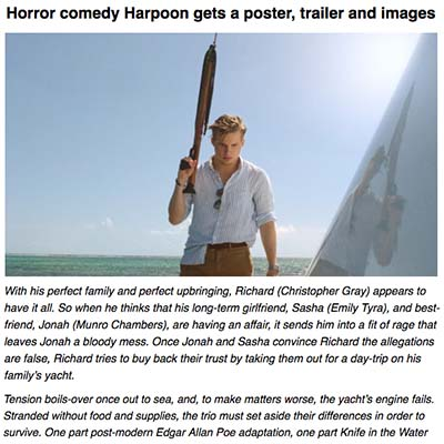 [TRAILER] HARPOON PROMISES A BOAT RIDE OF META HORROR