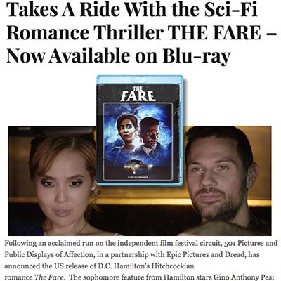 Takes A Ride With the Sci-Fi Romance Thriller THE FARE – Now Available on Blu-ray