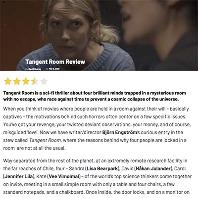 Tangent Room Review