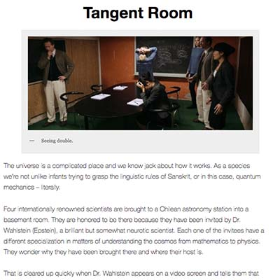 Tangent Room Review by Cinema365