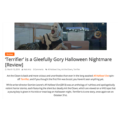 'Terrifier' is a Gleefully Gory Halloween Nightmare [Review]