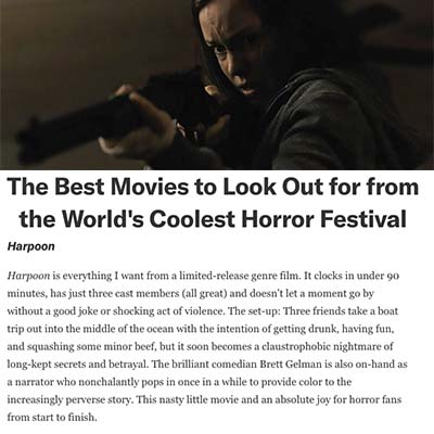 The Best Movies to Look Out for from the World's Coolest Horror Festival (Harpoon)