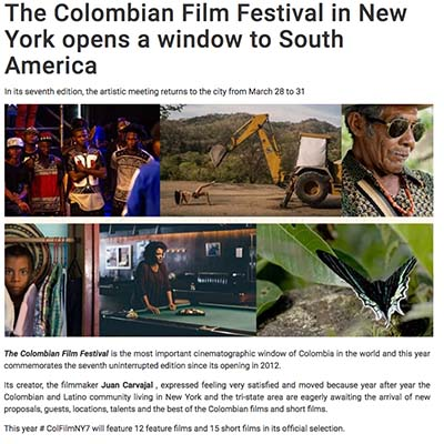 The Colombian Film Festival in New York opens a window to South America