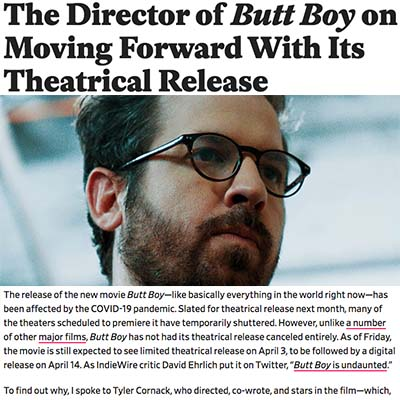 The Director of Butt Boy on Moving Forward With Its Theatrical Release
