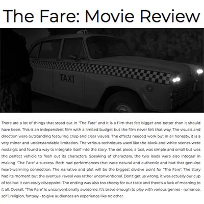 The Fare: Movie Review