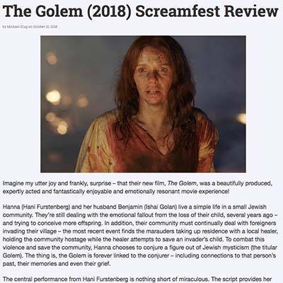 The Golem (2018) Screamfest Review