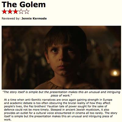 The Golem Film Review 2018