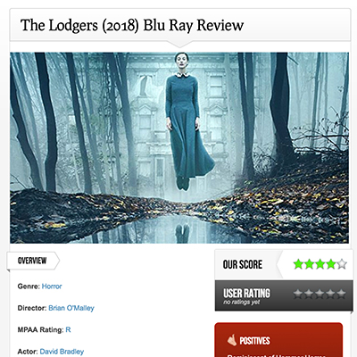 The Lodgers (2018) Blu Ray Review
