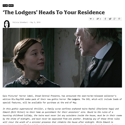 'The Lodgers' Heads To Your Residence