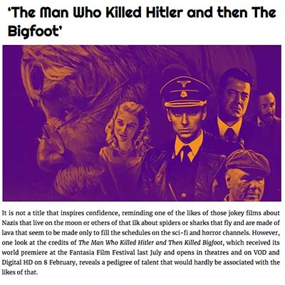 'The Man Who Killed Hitler and then The Bigfoot'