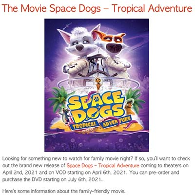 The Movie Space Dogs – Tropical Adventure