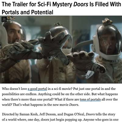 The Trailer for Sci-Fi Mystery Doors Is Filled With Portals and Potential
